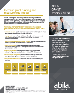 Grant Management Brochure