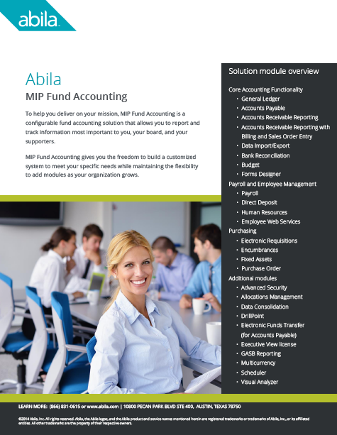 MIP Fund Accounting Brochure