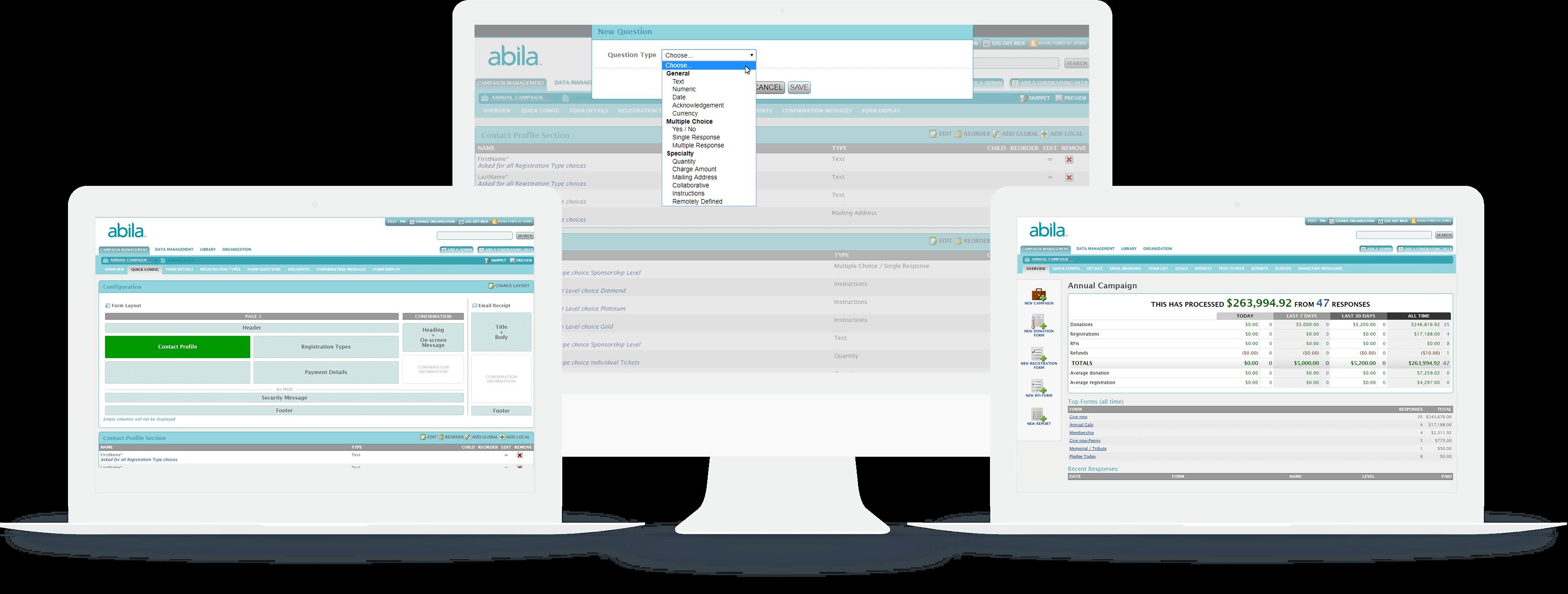 Fundraising Online Screenshots